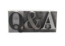 Q&A Immagini Stock