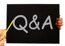 Q&A Blackboard Means Questions Answers Stock Photography