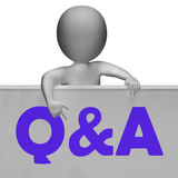 Q&A Blackboard Shows Inquiries Responses Royalty Free Stock Photo