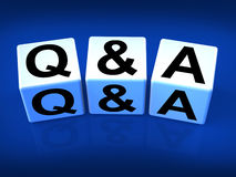 Q&A Blocks Refer to Questions and Answers Royalty Free Stock Image