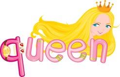 q-drottning stock illustrationer