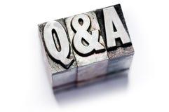 Q en A Stock Foto's