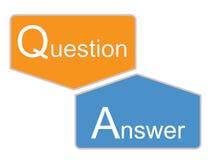 Q en een pictogram op witte achtergrond Royalty-vrije Stock Fotografie