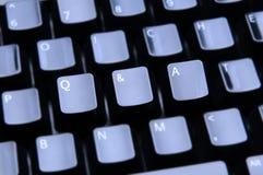 Q et définis sur le clavier Photos libres de droits