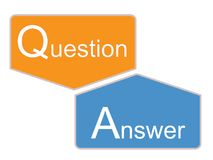 Q et une icône sur le fond blanc Photographie stock libre de droits