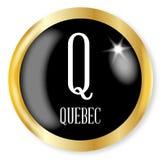 Q für Quebec Stockfotografie