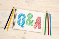 Q&A, Frage und Antworten-Konzept Stockbilder