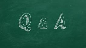 Q & A vector illustratie
