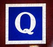 Q in hoofdletters Stock Foto's