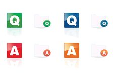 Q&A icon set Stock Images