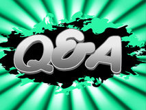 Q And A Indicates Frequently Asked Questions And Knowhow Stock Photography