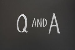 Q and A Royalty Free Stock Photo