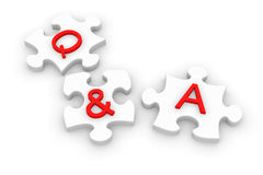 Q and A jigsaw puzzle Stock Image