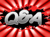 Q And A Means Frequently Asked Questions And Faqs Stock Photos