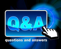 Q And A Means Frequently Asked Questions And Web Stock Image