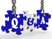 Q&A Means Questions And Answers Stock Photo