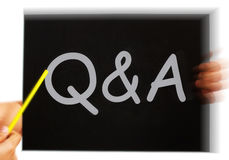Q&A Message Means Questions Answers And Assistance Royalty Free Stock Photos