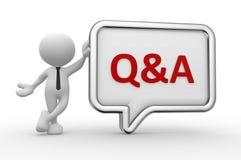 Q&A - Pergunta e resposta Imagem de Stock