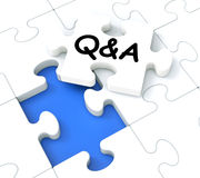 Q&A Puzzle Shows Frequently Asked Questions Stock Photos