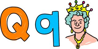 Q is for queen Royalty Free Stock Image