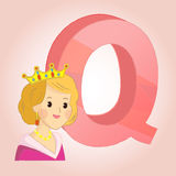 Q Queen Alphabet icon great for any use. Vector EPS10. Royalty Free Stock Photography