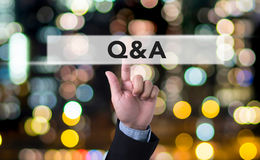 Q&A - Question and Answer Royalty Free Stock Photography