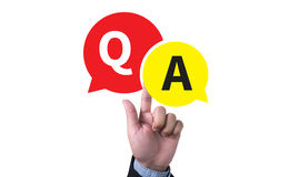 Q&A - Question and Answer Stock Photography