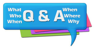 Q And A - Questions and Answers Colorful Comment Symbol Royalty Free Stock Image