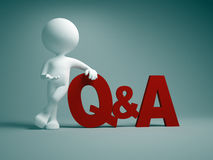 Q&A. Questions and answers Stock Photo