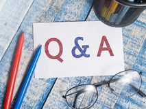 Q & A Questions and Answers, Motivational Words Quotes Concept. Q & A Questions and Answers, business motivational inspirational quotes, words typography top stock images