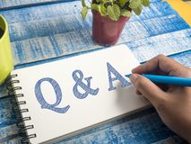Q & A, Questions and Answers. Words Typography Concept. Q & A, Questions and Answers. Motivational internet business words quotes lettering typography concept royalty free stock photography