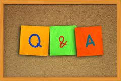 Q & A, Questions and Answers. Words Typography Concept. Q & A, Questions and Answers. Motivational internet business words quotes lettering typography concept stock image