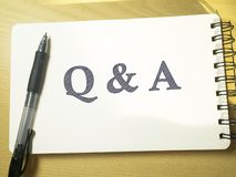 Q & A, Questions and Answers. Words Typography Concept. Q & A, Questions and Answers. Motivational internet business words quotes lettering typography concept royalty free stock images
