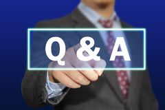 Q & A, Questions and Answers. Words Typography Concept. Q & A, Questions and Answers. Motivational internet business words quotes lettering typography concept royalty free stock image