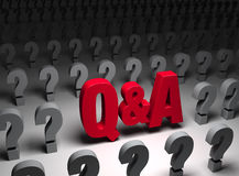 Q And A In Questions Stock Image