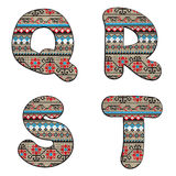 Q, R, S, T decor letters Royalty Free Stock Photography