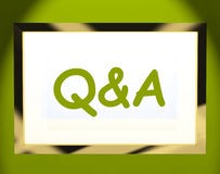 Q&a On Screen Shows Info Questions And Answers Stock Photos