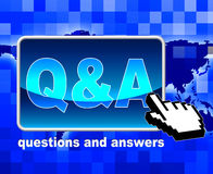Q And A Shows World Wide Web And Net Stock Photo