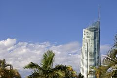 Q1 Skyscraper Building Gold Coast Queensland Australia royalty free stock photo