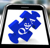 Q&A Smartphone Shows Site Questions Answers And Information Stock Photo