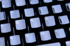 Q & A Spelled Out on Keyboard Royalty Free Stock Photos