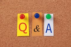 Q and A Stock Photo