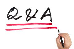 Q&A Royalty Free Stock Photography