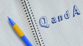 Q y A ilustración del vector