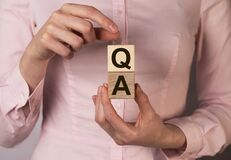 Free QA And Q Concept Of Questions And Answers In Business And Education Stock Image - 213831111