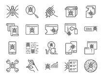 QA and Bug fix icon set. Included icons as bug report, computer virus, spyware, quarantine, quality assurance, Test Case and more. Vector and illustration: QA vector illustration