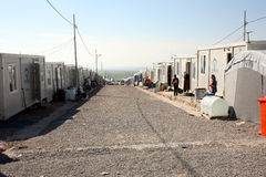 Qadia IDP阵营 库存照片