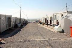 Qadia IDP läger Arkivfoto