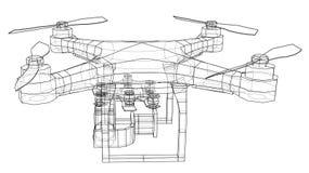 Qadrocopter or drone. Vector Royalty Free Stock Photos