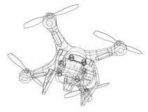 Qadrocopter or drone. Vector Stock Photos